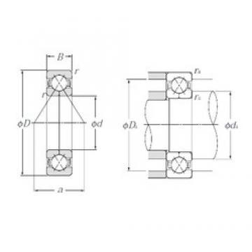 100 mm x 180 mm x 34 mm  NTN QJ220 angular contact ball bearings