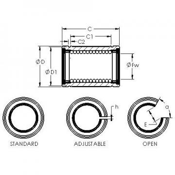 AST LBE 12 UU OP linear bearings