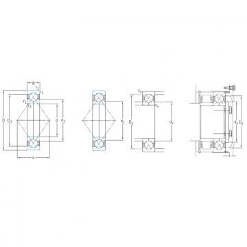100 mm x 180 mm x 34 mm  SKF QJ220N2MA angular contact ball bearings