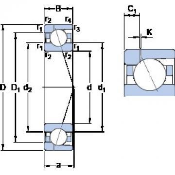 170 mm x 230 mm x 28 mm  SKF 71934 CD/P4AH1 angular contact ball bearings
