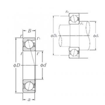 50 mm x 80 mm x 16 mm  NTN 7010C angular contact ball bearings