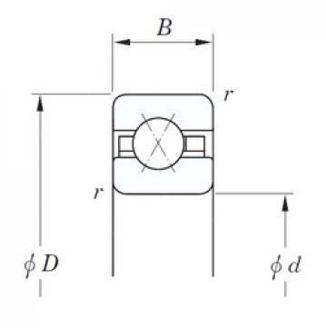 228,6 mm x 241,3 mm x 6,35 mm  KOYO KAX090 angular contact ball bearings