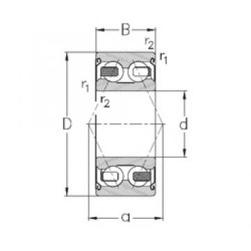 17 mm x 40 mm x 17,5 mm  NKE 3203-B-2Z-TV angular contact ball bearings
