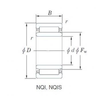 22 mm x 34 mm x 16 mm  KOYO NQI22/16 needle roller bearings