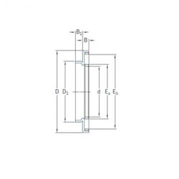 35 mm x 55 mm x 3,2 mm  SKF AXW35 needle roller bearings