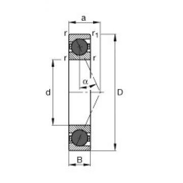 120 mm x 215 mm x 40 mm  FAG HCB7224-E-T-P4S angular contact ball bearings
