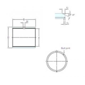 70 mm x 75 mm x 50 mm  SKF PCM 707550 E plain bearings