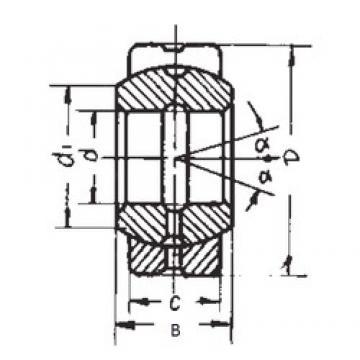 15 mm x 30 mm x 16 mm  FBJ GEG15ES plain bearings