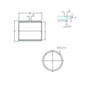 11,113 mm x 13,494 mm x 19,05 mm  SKF PCZ 0712 E plain bearings