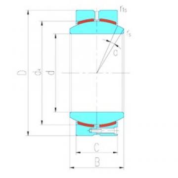 530 mm x 710 mm x 243 mm  LS GEC530HC plain bearings