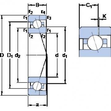 17 mm x 35 mm x 10 mm  SKF 7003 CE/HCP4AH angular contact ball bearings