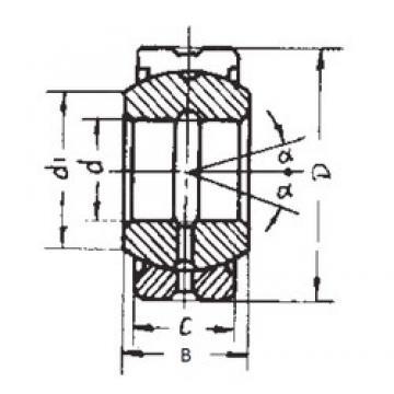 300 mm x 430 mm x 165 mm  FBJ GE300ES-2RS plain bearings