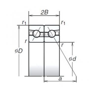 130 mm x 200 mm x 31,5 mm  NSK 130BAR10H angular contact ball bearings