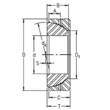 30 mm x 55 mm x 16 mm  Timken GE30SX plain bearings