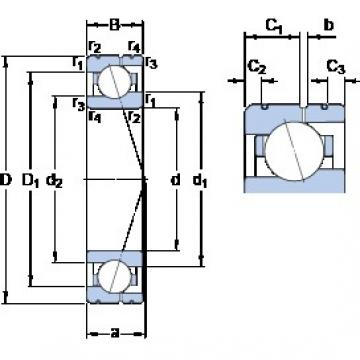 75 mm x 105 mm x 16 mm  SKF 71915 CE/P4AL angular contact ball bearings