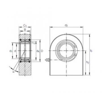 120 mm x 180 mm x 85 mm  INA GF 120 DO plain bearings