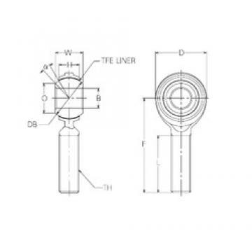 28 mm x 62 mm x 28 mm  NMB RBT28E plain bearings