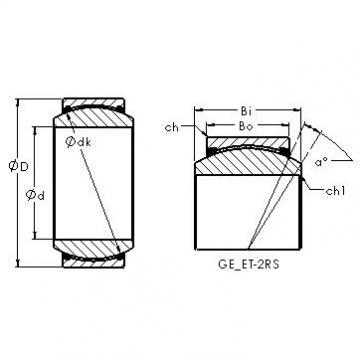 AST GEG110ET-2RS plain bearings