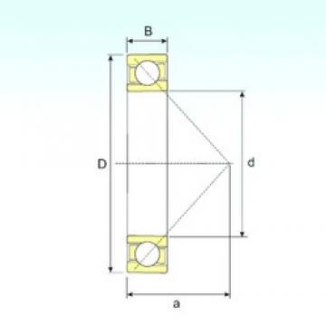 95 mm x 200 mm x 45 mm  ISB 7319 B angular contact ball bearings