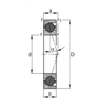 30 mm x 62 mm x 16 mm  FAG HCB7206-C-T-P4S angular contact ball bearings